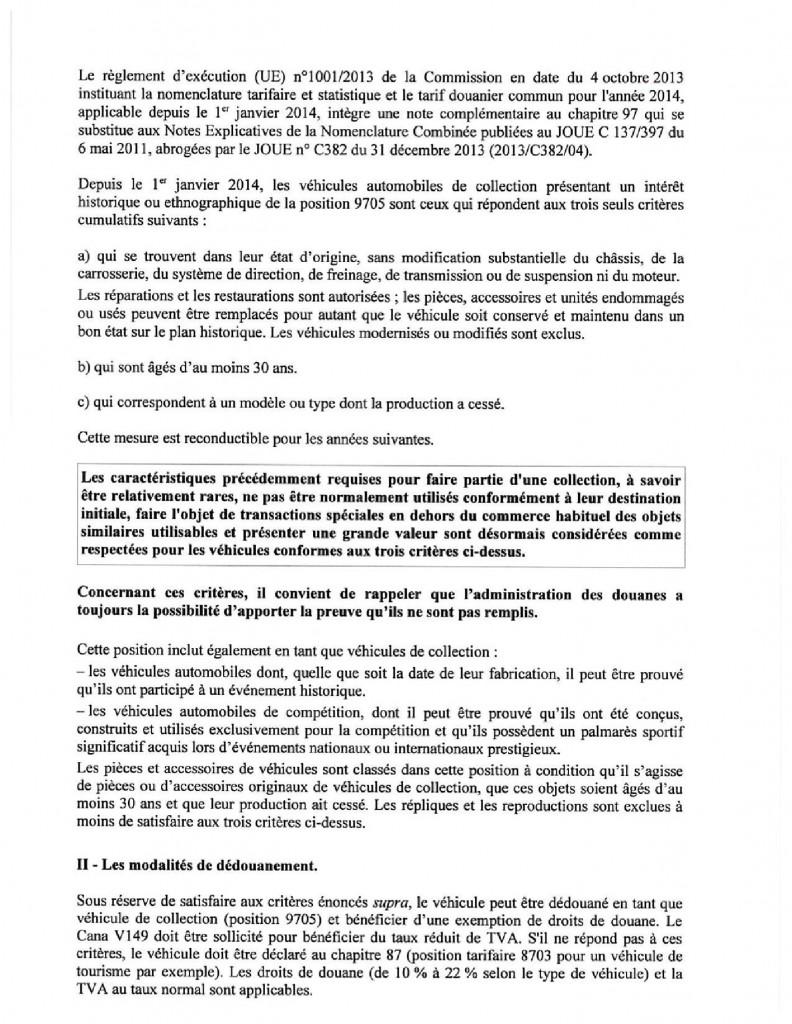 circulaire du 8 septembre 2014 définition du véhicule de collection et fiscalité applicable image 2